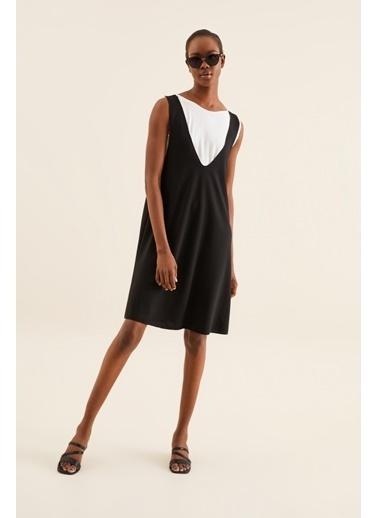 Quincey Çift Katlı Elbise Siyah